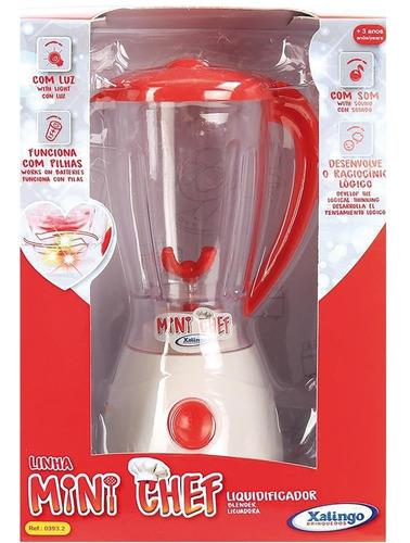 liquidificador xalingo mini chef, branco/vermelho