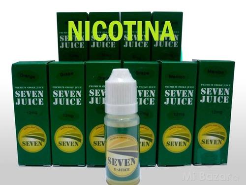 liquido 10ml premium nicotina seven-juice12 18mg-24mg oferta