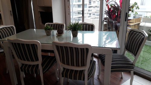 liquido!! 6 sillas estilo francés + mesa extensible diseño!!