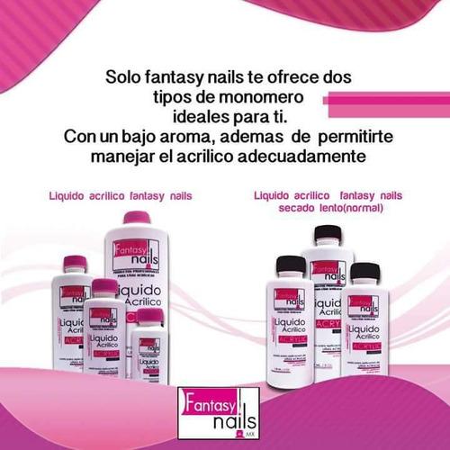 liquido acrílico y material de uñas