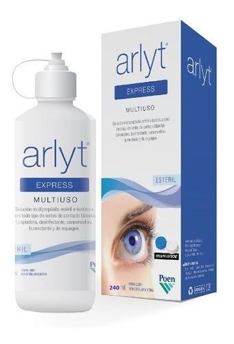 líquido arlyt express multiuso para todo tipo, lentes blanda