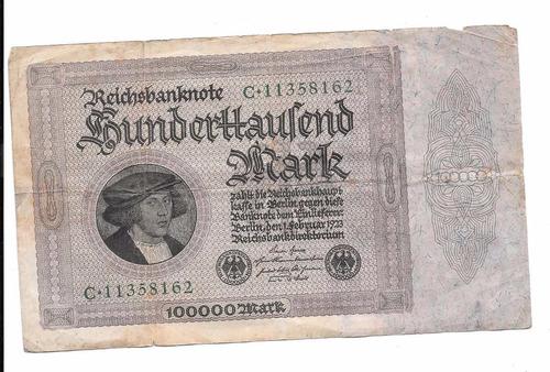 liquido billete de alemania.  100.000 marcos 1923