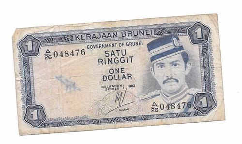 liquido billete de brunei.  1 ringitt 1983