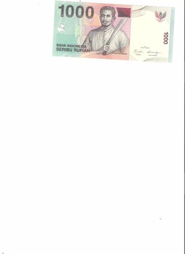 liquido billete de indonesia. 1000 rupias 2009 unc
