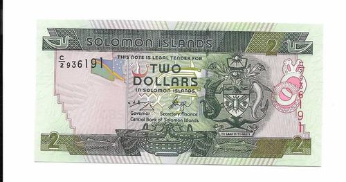 liquido billete de islas solomon.  2 dólares 1997 unc