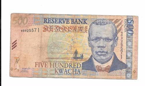 liquido billete de malawi.  500 kwachas 2003