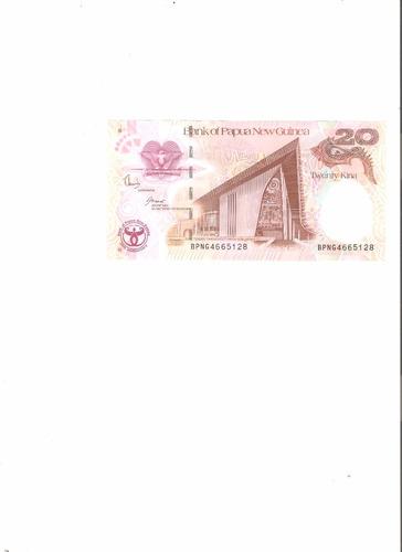 liquido billete de nueva guinea.  20 kuna unc