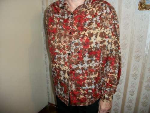 liquido blusa seda manga larga estampado talle 48