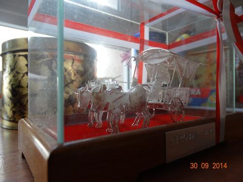 liquido carreta de filograna con plata de indonesia finisima