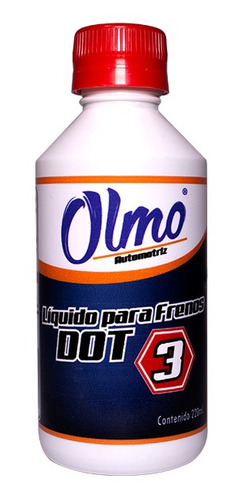 liquido de freno dot 3 220 ml olmo automotriz