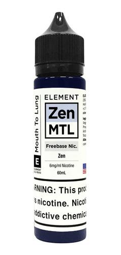 liquido element vaper mtl zen freebase 60ml nico 3/6 mg