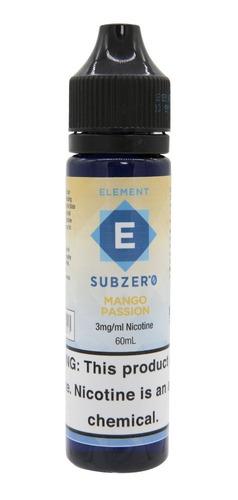 liquido element vaper subzero mango passion 60ml nic 0/3mg