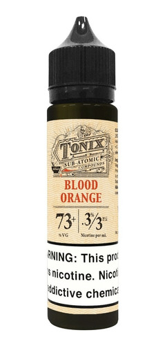 liquido element vaper tonix blood orange 60ml nic 0/3/6mg