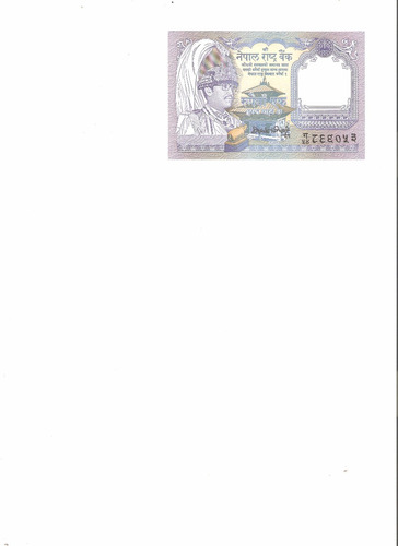 liquido excelente billete de nepal.  1 rupia 1994 unc