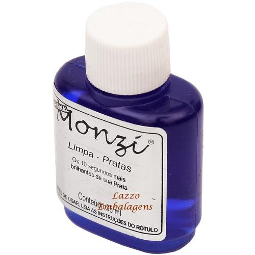 liquido limpa joias em prata monzi 35ml - original
