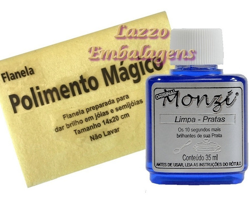 liquido limpa prata monzi 35ml para aliança compromisso