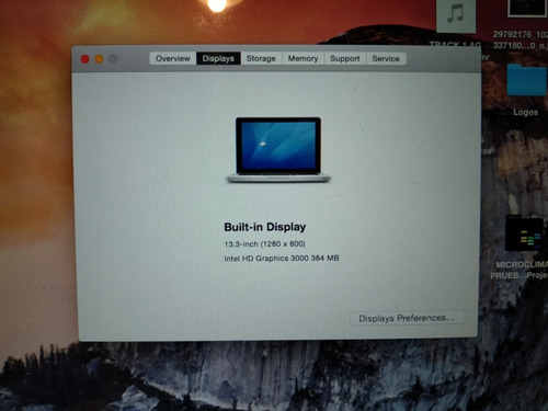 liquido macbook pro 13 2011 i5. 4ram. 320hdd. bateríanueva.