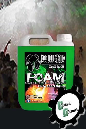 líquido para máquina de espuma - pro - 5 litros c/catalizad