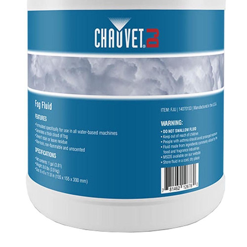 liquido para maquina de humo chauvet (1galon 3.8 lts)