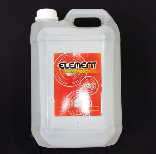 liquido para maquina de humo disco element x 5 litro