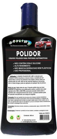 líquido polidor de pinturas automotiva dry limp - 500ml