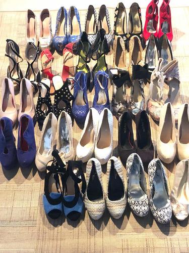 líquido por cierre lote de 24 pares de zapatos tacos fiesta