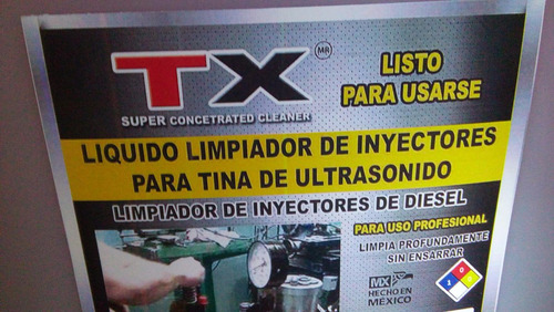 liquido ultrasonido/lavador de inyectores diesel /20 lts