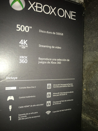 liquido! xbox one s 500gb. muy poco uso. impecable en caja!.
