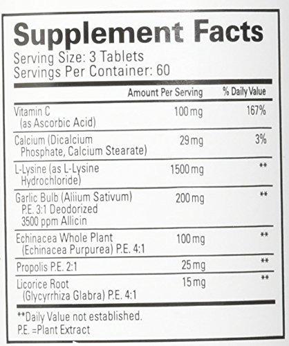 lisina + echinacea 180 tablets da quantum health - usa