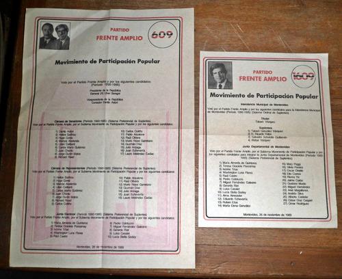 lista elecciones 1989 mpp 609 frente amplio
