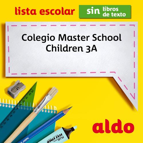 lista escolar colegio master school  children 3a