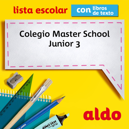 lista escolar colegio master school  junior 3