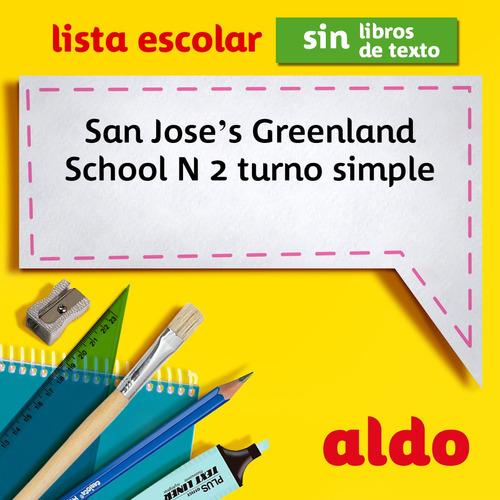 lista escolar san joses greenland school n 2 turno simple