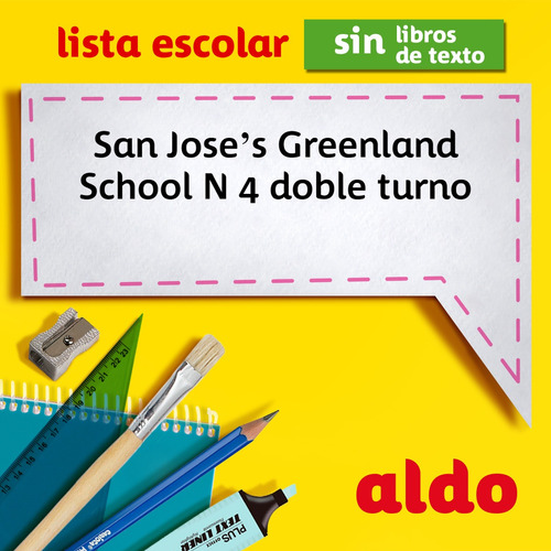lista escolar san joses greenland school n 4 doble turno