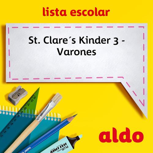 lista escolar st. clare´s kinder 3 - varones