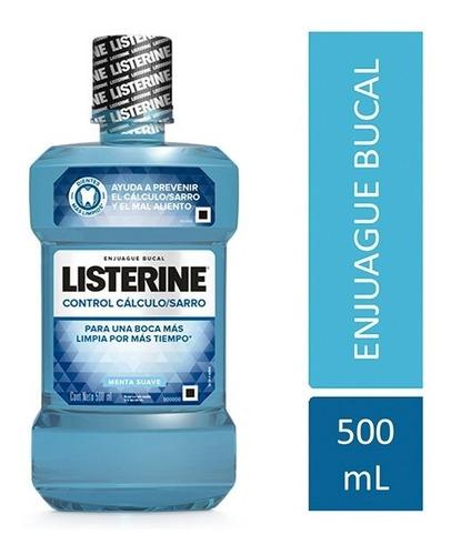 listerine enjuague bucal control cálculo / sarro 500ml