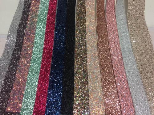 liston glitter y mini glitter 1metro x 25cm