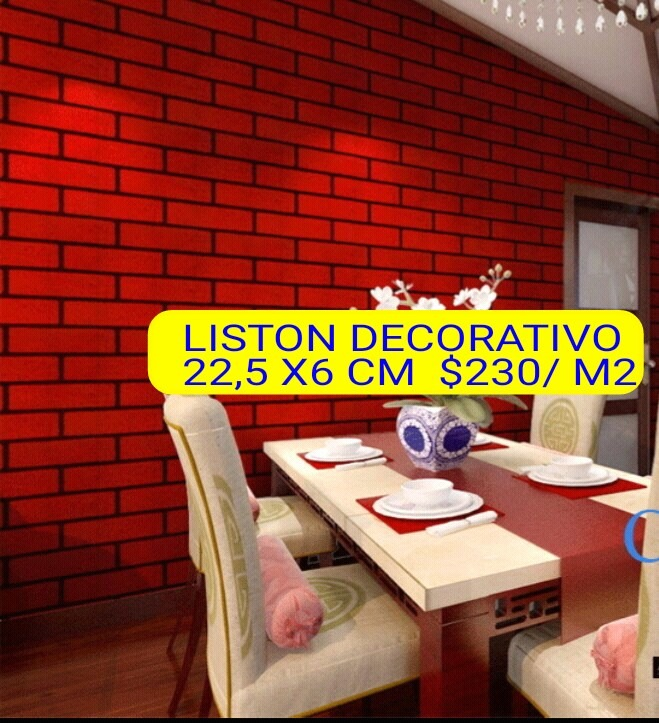 Liston Ladrillo Vista 225 X 6 Cm Pared Interior 23000 en