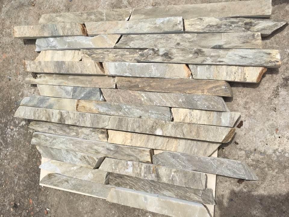 Listones r sticos de piedra natural para revestimiento for Precio revestimiento piedra