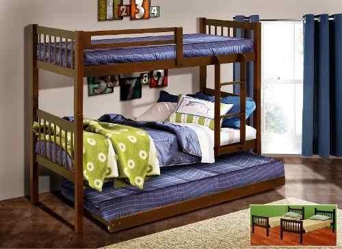 litera alabama 3 camas individuales - chocolate këssa mueble