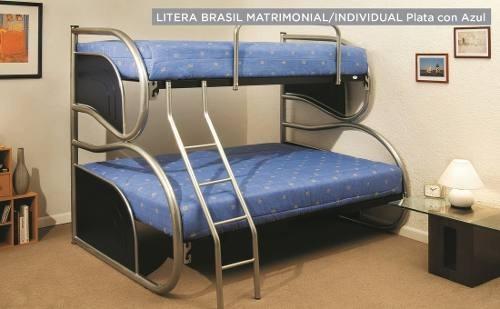litera brasil - azul këssa muebles
