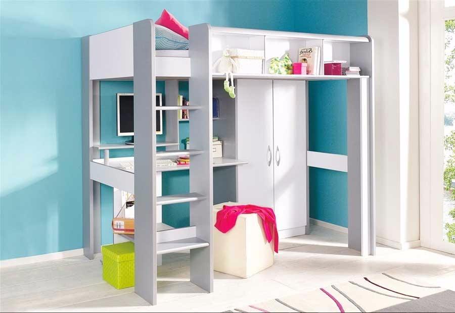 litera cama 1 1 2 plz escritorio con cajones closet le 068 u s en mercado libre. Black Bedroom Furniture Sets. Home Design Ideas