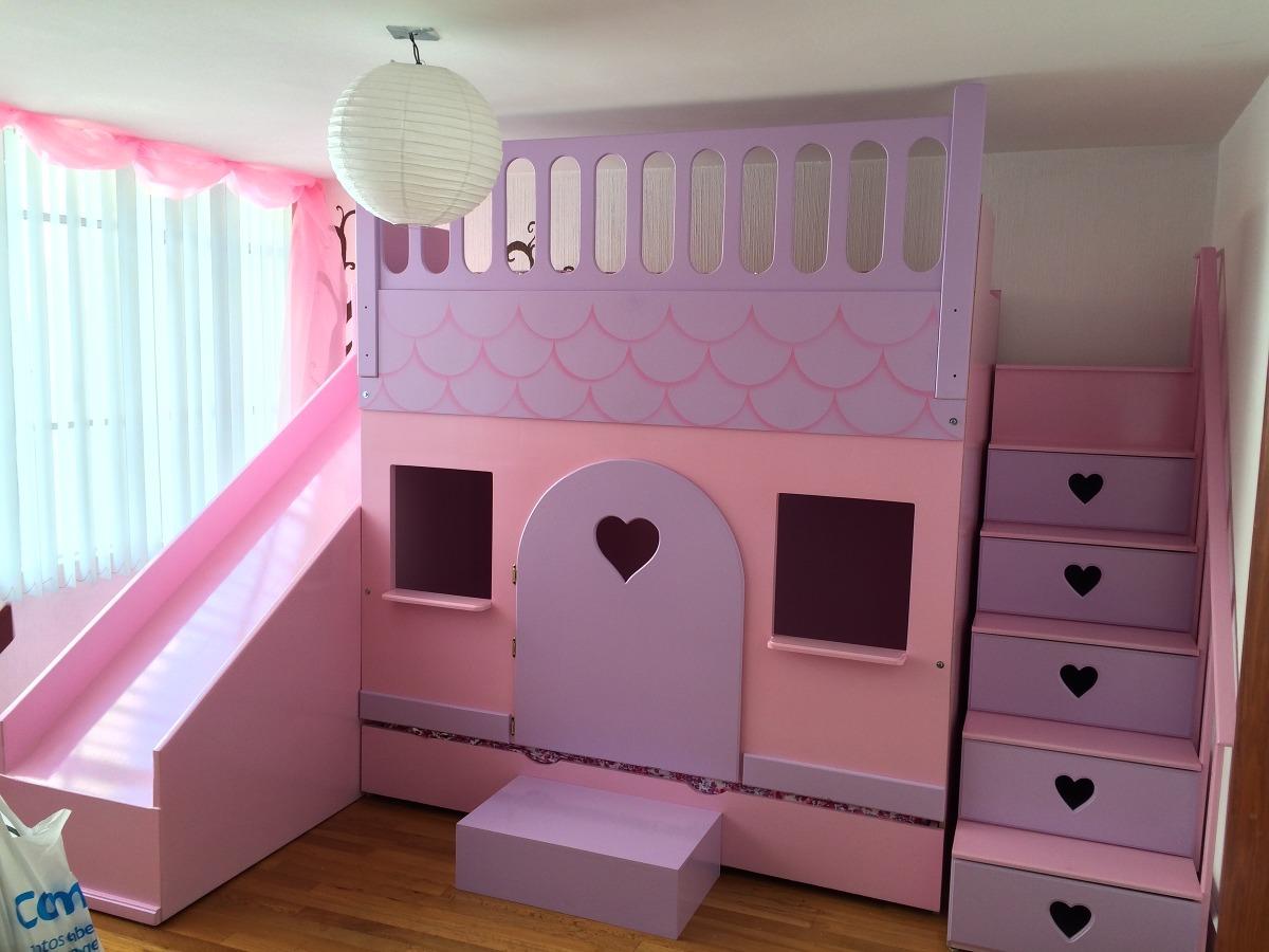 Litera cama princesas castillo lagunilla recamara - Cama de princesa para nina ...