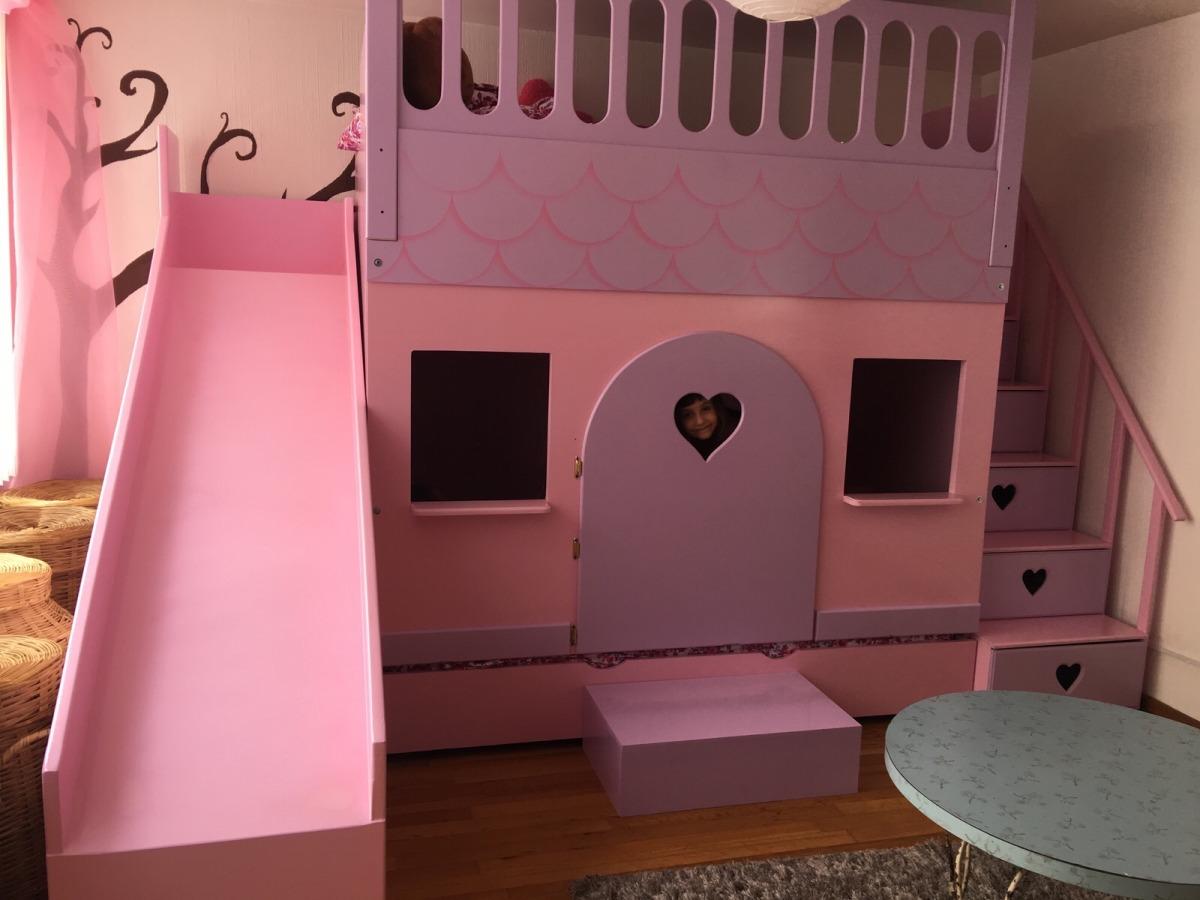 Litera cama princesas castillo lagunilla recamara - Camas infantiles de princesas ...
