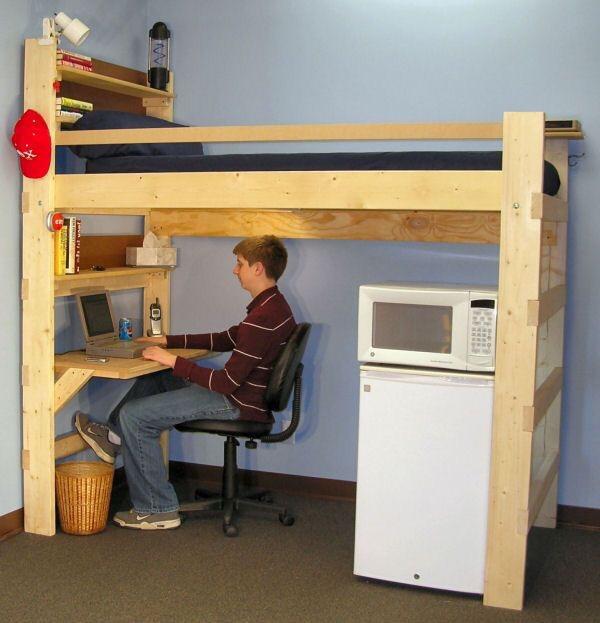 Litera con escritorio en madera 24 en mercado libre - Litera con escritorio debajo ...