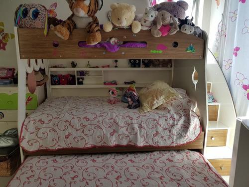 litera de 3 camas niño o niña