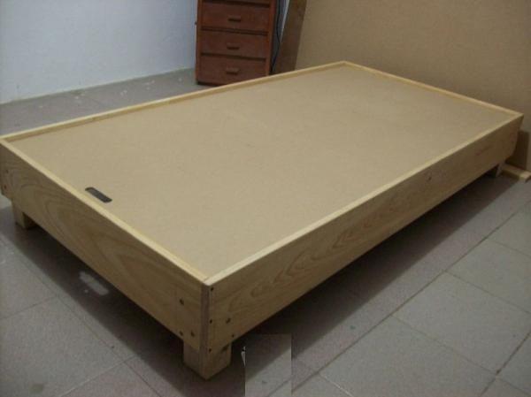 Litera de madera pino abatible individuales infantil for Como hacer una base para cama individual