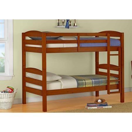 Litera individual en madera cama importada varios colores for Ver literas en coppel