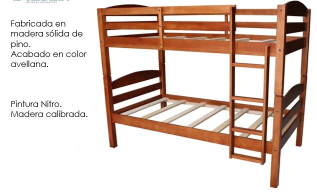 Litera juvenil literas madera 5 en mercado libre - Precios de literas para ninos ...