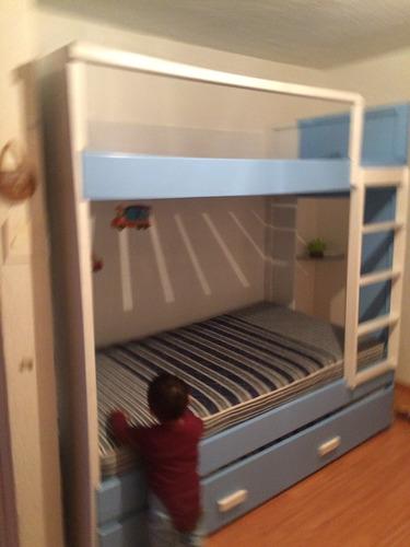 litera minimalista 3 camas individuales lagunilla